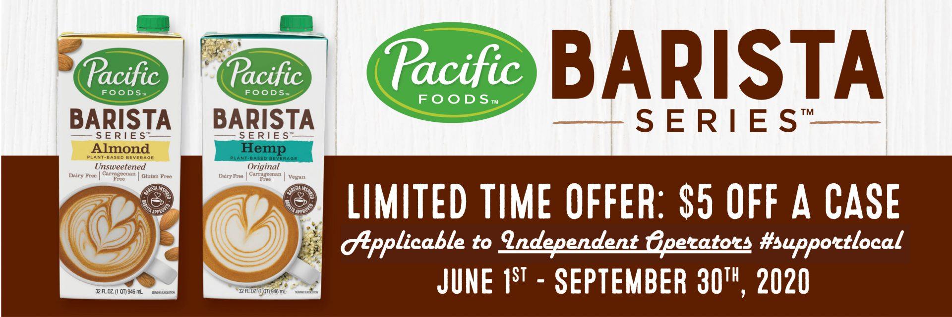Pacific Barista Series Promo Deal
