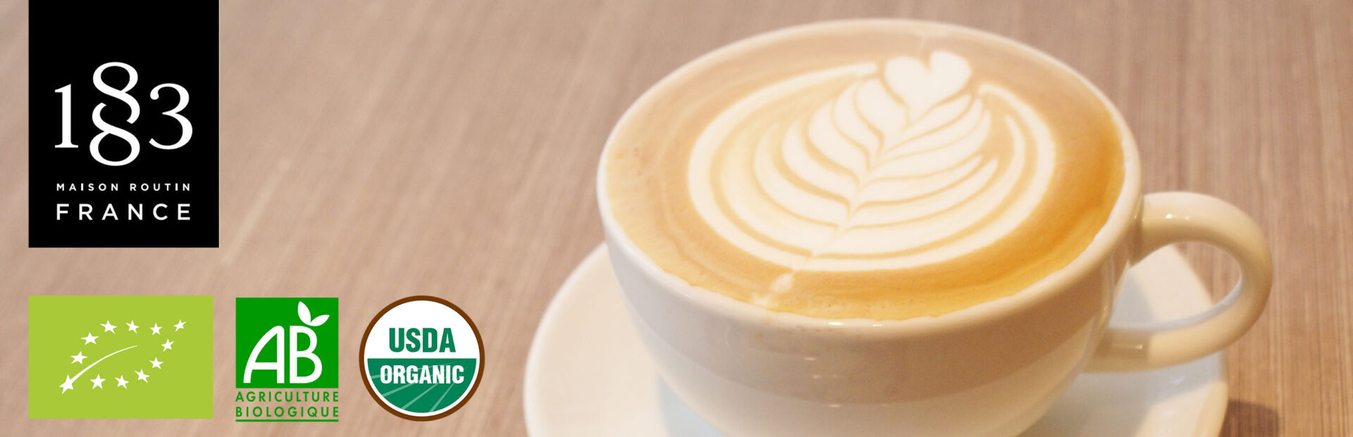 1883 organic syrup banner latte