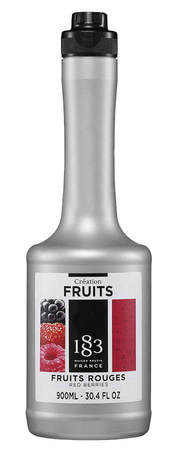 red berries fruit puree
