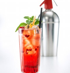 Smoked Raspberry Collins